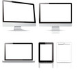 pack computer tablet electronic devices vector image vector image