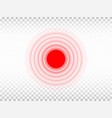 pain red circle on transparent background aching vector image