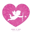 pink abstract flowers texture shooting cupid vector image vector image