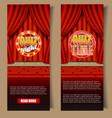 quiz game vertical banner template set vector image