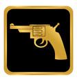 revolver button on white vector image vector image