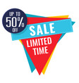 sale limited time up to 50 off triangle backgroun vector image vector image
