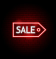 sale tag neon sign vector image vector image
