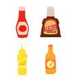 sauce bottle icon set cartoon style vector image