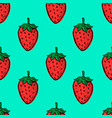 seamless pattern with hand drawn strawberries vector image