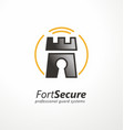 security agency logo template vector image vector image