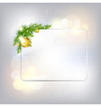 Silver New Year Gard With Glass Frame vector image vector image