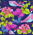 spring garden seamless pattern natural vector image