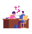 student has problems at interview examination vector image vector image