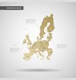 stylized european union eu map vector image