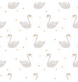 swan cute kids simple seamless pattern vector image vector image