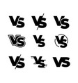 versus black logos challenge vs sign sport match vector image
