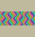 vertical groovy pattern wavy lines in sixties vector image vector image