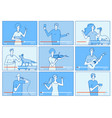 video tutorials people bloggers on screen vector image