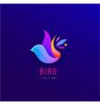 wavy abstract colorful bird abstract logo vector image vector image