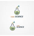 Funny science logo vector image