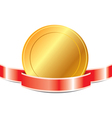 medal with ribbon EPS 10 vector image