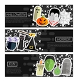 Set of Horizontal Banners about halloween vector image