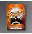 Halloween Zombie Party Flyer Design vector image