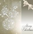 abstract christmas balls vector image vector image