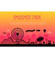amusement park - modern vector image