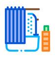 bathroom icon outline vector image