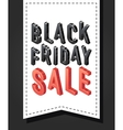 Black friday sale banner sign Isometric vector image