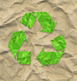 Cardboard Crushed Paper With Recycle Sign vector image vector image