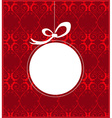 Christmas frame design vector image vector image