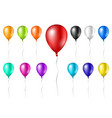 colorful realistic balloons isolated on white vector image