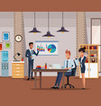 coworkers at office vector image