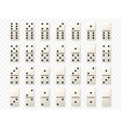 Dominoes or domino tiles white mockups