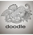 doodle black coloring mandala pattern vector image vector image