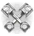 double graphic black car engine piston vector image vector image