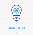 engineering idea concept light bulb with wheel vector image