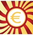 Euro abstract icon vector image