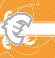 euro moey icon background vector image vector image