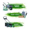 farming gardening tools garden farm equipment vector image vector image
