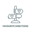 favourite directions line icon linear vector image vector image