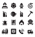 fire department icons vector image