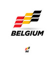 flag belgium dynamic culture celebration icon vector image