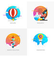 flat designed concepts - colored 7 vector image vector image