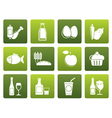 flat food drink and aliments icons