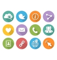 Flat Social network icons set with long shadow vector image vector image
