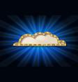golden glitter speech bubble frame isolated vector image vector image