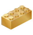 Golden isolated constructor brick isometric vector image vector image