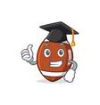graduation american football character cartoon vector image vector image