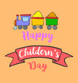 happy childrens day background style vector image vector image