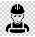 happy mechanic icon vector image