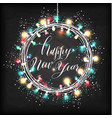happy new year design on black texture vector image